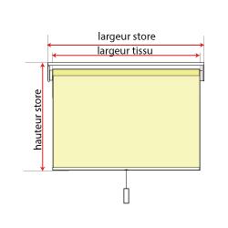 mesurer la largeur du store