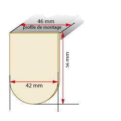 dimensions cache support store enrouleur à ressort