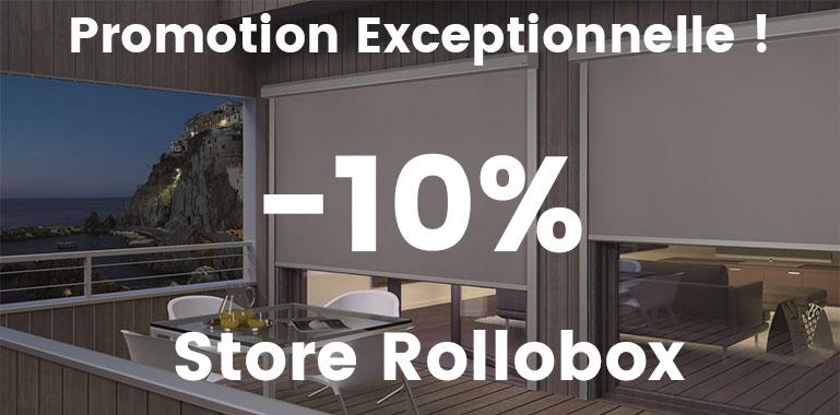 Promotion de 10% sur store enrouleur rollobox sur-mesure