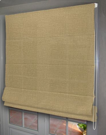 store tamisant beige lin, 100% polyester